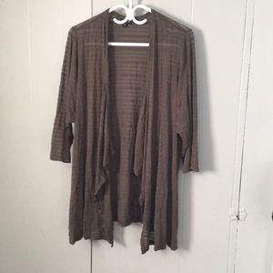 TORRID: green 3/4 length sleeve cardigan